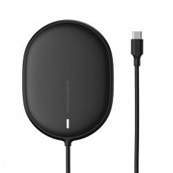 Bezprzewodowa ładowarka indukcyjna Baseus Light do iPhone 12, 15W (czarna)