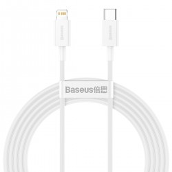 Baseus Superior Series Cable USB-C to Lightning, 20W, PD, 2m (white)