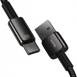 Baseus Tungsten Gold Cable USB to Type-C, 66W, 1m (black)