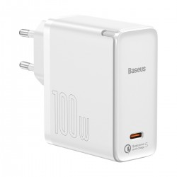 Baseus GaN2 Fast Charger 1C 100W with USB-C cable for USB-C 5A, 1,5m (white)