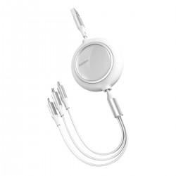 Baseus Bright Mirror 3-in-1 cable USB For M+L+T 3.5A 1.2m (white)