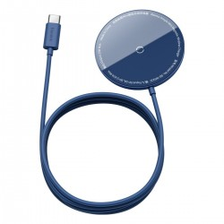 Baseus Simple Mini magnetic induction wireless charger, MagSafe, 15W (blue)