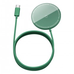 Baseus Simple Mini magnetic induction wireless charger, MagSafe, 15W (green)