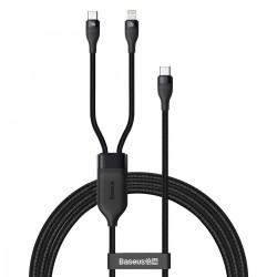 Baseus Flash Series 2-in-1 Cable Type-c to 2x Type-C, 100W, 1.5m Black