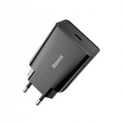 Baseus Speed Mini Quick Charger, USB-C, PD, 3A, 20W (black)