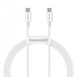 Baseus Superior Series Cable USB-C to USB-C, 100W, 1m (white)