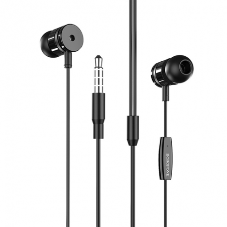 """3.5 mm BM31 """"MYSTERIOUS"""" earphones with microphone and controls on the 1.2 meter wire"""