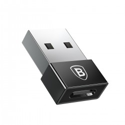 Baseus Exquisite USB to USB-C 2.4A Adapter (black)