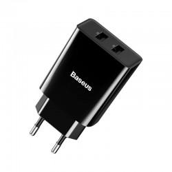 Baseus Speed Mini Dual U Charger 10.5W (EU) Black