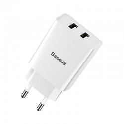 Baseus Speed Mini Dual U Charger 10.5W (EU) White