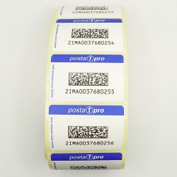 100 Mail 1 Pro adhesive labels coupons QR codes postal tracking roll