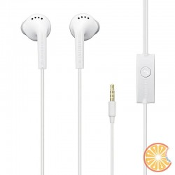 Original Samsung EHS61 wired stereo earphones volume control + microphone (white)