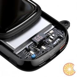 Baseus Q pow Digital Display Power Bank 20000mAh, IP, USB, USB-C, 22.5W with Type-C Cable (black)