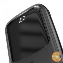 Baseus Q pow Digital Display 3A Power Bank 10000mAh (With Type-C Cable) Black