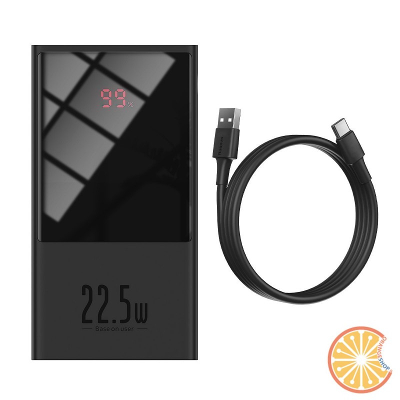 Powerbank Baseus Super Mini, 10000mAh, USB + USB-C, SCP, QC 3.0, PD, 22.5W (black)
