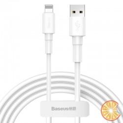 Baseus Mini USB Lightning Cable 2.4A 1m (White)