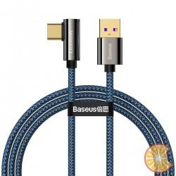 Cable USB to USB-C Baseus Legend Series, 66W, 1m (blue)