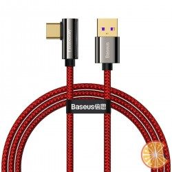 Cable USB to USB-C Baseus Legend Series, 66W, 1m (red)