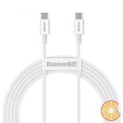 Baseus Superior Series Cable USB-C to USB-C, 100W, 2m (white)