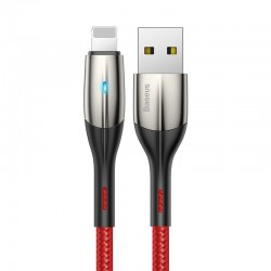 Baseus Horizontal Lightning Cable with LED lamp 2m 1.5A (Red)