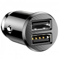 Baseus Grain Car Charger 2x USB 5V 3.1A (black)