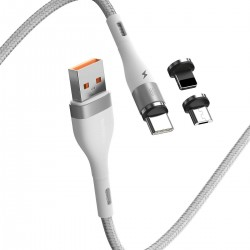 Baseus Cavo USB Fast 4in1 da USB a USB-C / Lightning / Micro 3A 1m (bianco)