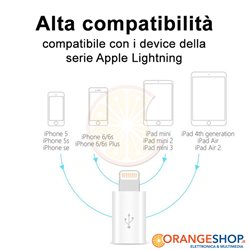Adattatore da Micro USB a 8 Pin Lightning per iphone ipad sincro dati ricarica