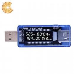 USB TESTER 3 in 1 - display Amper Volt timer mAh calcolo capacità batteria