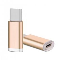 ADAPTER MICRO USB - TYPE C 3.1 gold