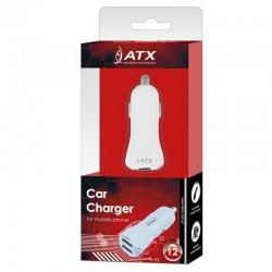 CAR LOADER ATX 2xUSB 1A / 2,1A bianco