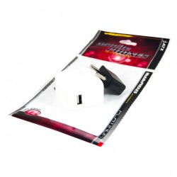 CARICATORE DA VIAGGIO ATX USB 5.1V / 2.1A + AD PL / USA bianco USA