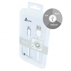 CAVO USB ACURA LIGHTNING CU5 1,5M BOX bianco