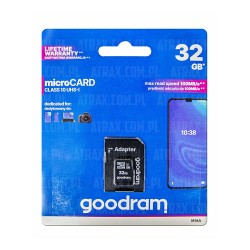 GOODRAM MICRO.SD 32GB C10 UHS+AD 100MB/s