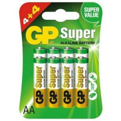 SUPERALKALINE BATTERY GP AA LR6 4 + 4 pcs