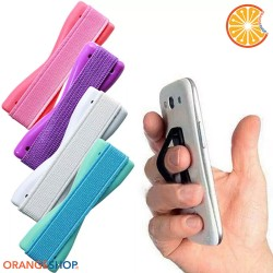 Finger grip elastic band for mobile phone smartphone tablet with universal 3M adhesive