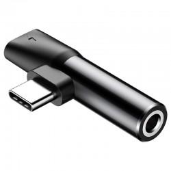 Baseus Audio Adapter USB-C to Mini Jack 3.5mm + USB-C (black)