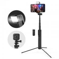 BlitzWolf BW-BS8 Selfie stick statyw 3w1 z lampą doświetlającą