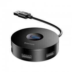 Baseus Hub 4in1 USB to USB 3.0 + 3x USB 2.0 15cm (Black)