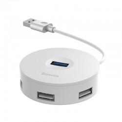Baseus Hub 4in1 USB to USB 3.0 + 3x USB 2.0 15cm (White)