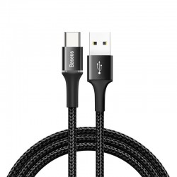 Baseus Halo Data Cable USB-C with LED 3A 1m (black)