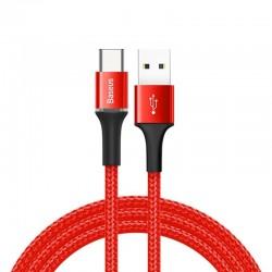 Baseus Halo Data Cable USB-C LED 3A 1m (Red)